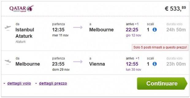 Istanbul >> Melbourne >> Beč