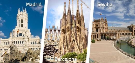 Madrid-Barcelona-Sevilja