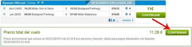 Milano >> Budimpešta >> Milano