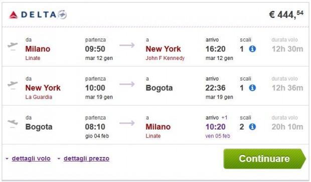Milano >> New York >> Bogota >> Milano