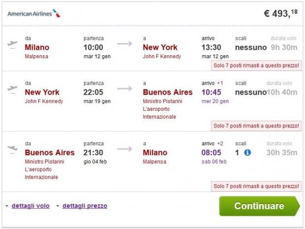 Milano >> New York >> Buenos Aires >> Milano