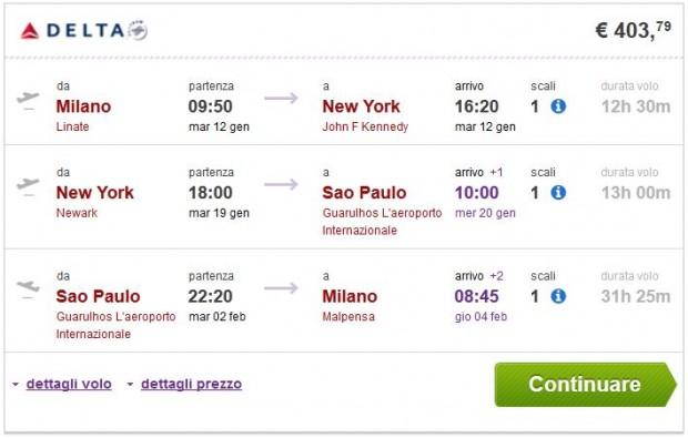 Milano >> New York >> Sao Paulo >> Milano