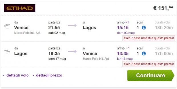 Venecija >> Lagos >> Venecija