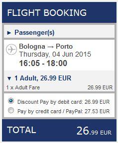 Bolonja >> Porto, na Ryanair stranicama