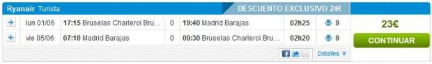 Brisel >> Madrid >> Brisel
