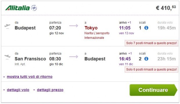 Budimpešta >> Tokio, San Francisco >> Budimpešta