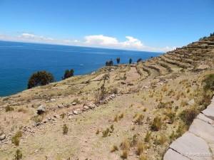 Otok Taquile, put prema vrhu