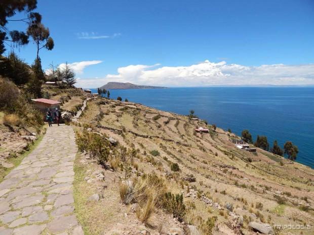 Otok Taquile na jezeru Titicaca, pomalo nalik Mediteranu