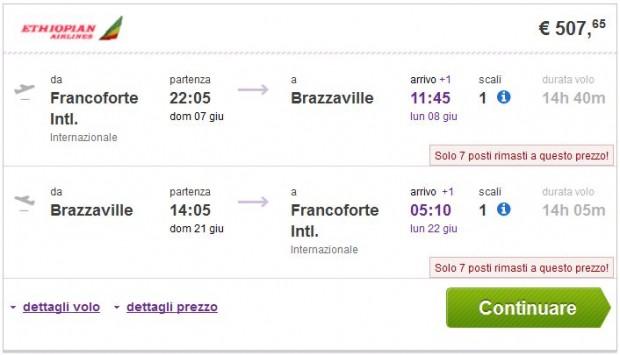 Frankfurt >> Brazzaville >> Frankfurt