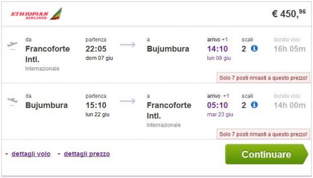 Frankfurt >> Bujumbura >> Frankfurt