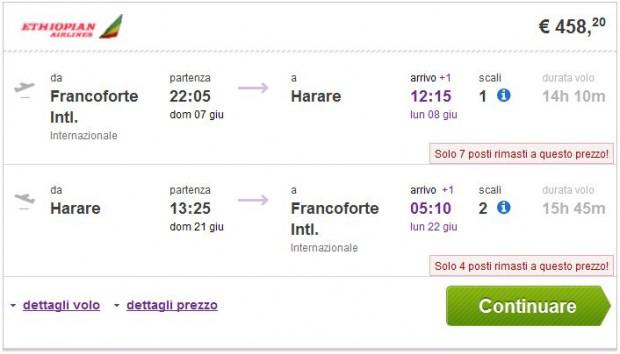 Frankfurt >> Harare >> Frankfurt