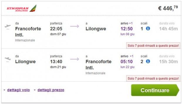 Frankfurt >> Lilongwe >> Frankfurt