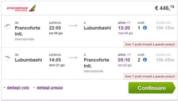 Frankfurt >> Lubumbashi >> Frankfurt