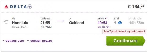 Honolulu >> Oakland