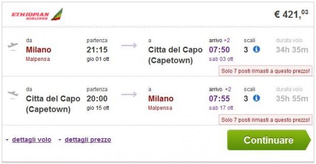 Milano >> Cape Town >> Milano