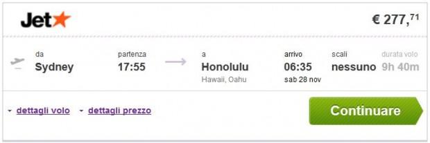 Sydney >> Honolulu
