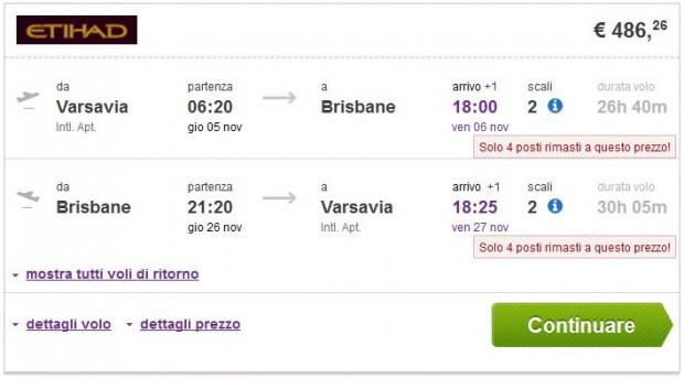 Varšava >> Brisbane >> Varšava