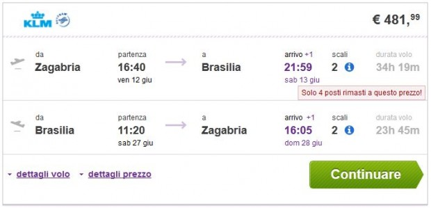 Zagreb >> Brasilia >> Zagreb