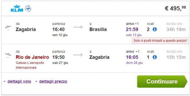 Zagreb >> Brasilia -- Rio de Janeiro >> Zagreb