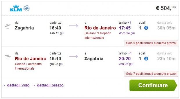 Zagreb >> Rio de Janeiro >> Zagreb