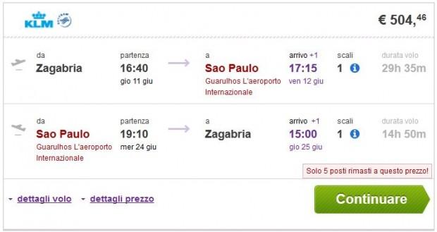 Zagreb >> Sao Paulo >> Zagreb