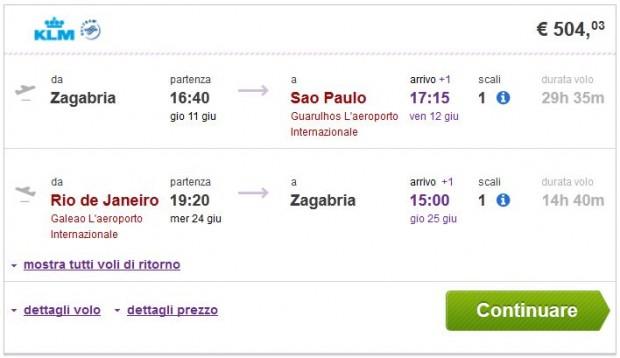 Zagreb >> Sao Paulo -- Rio de Janeiro >> Zagreb