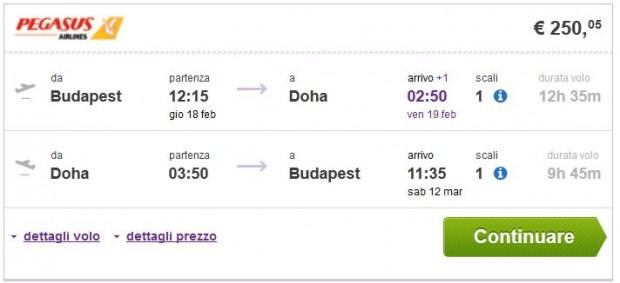 Budimpešta >> Doha >> Budimpešta