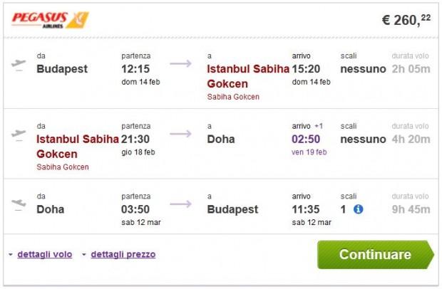 Budimpešta >> Istanbul >> Doha >> Budimpešta