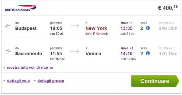 Budimpešta >> New York -- Sacramento >> Beč