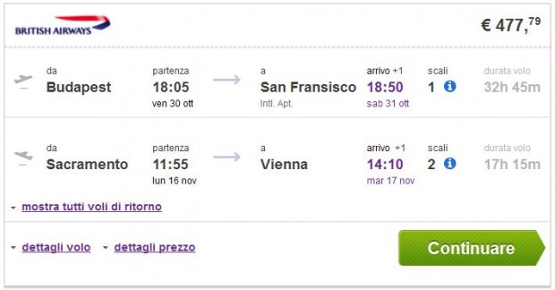 Budimpešta >> San Francisco -- Sacramento >> Beč