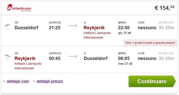 Dusseldorf >> Reykjavik >> Dusseldorf, na budgetair.it stranicama