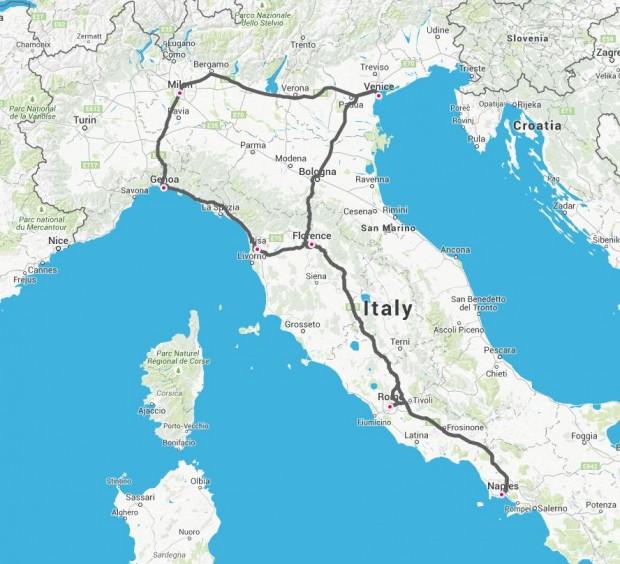 Giro-di-Italia-mapa