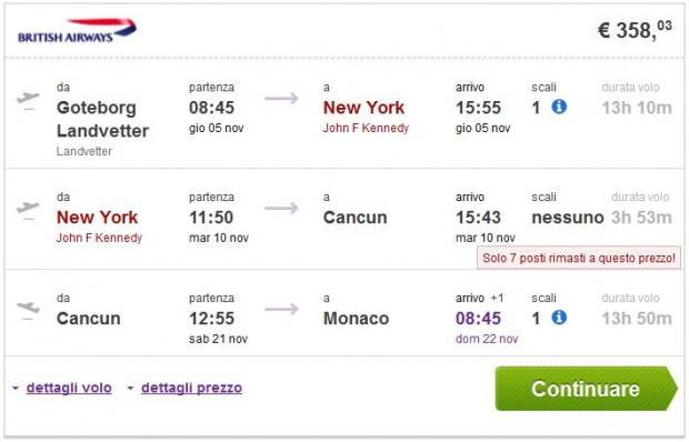 Goteborg, Oslo >> New York >> Cancun >> Minhen