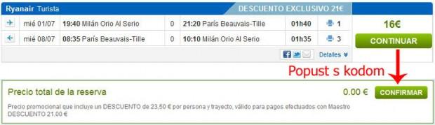 Milano (Bergamo) >> Pariz >> Milano (Bergamo)