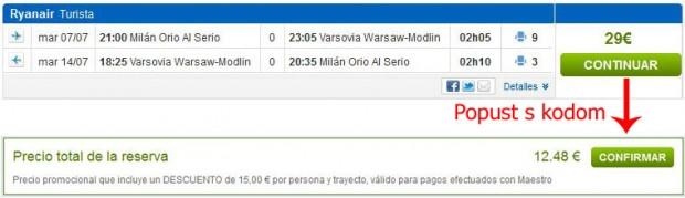 Milano (Bergamo) >> Varšava >> Milano (Bergamo)