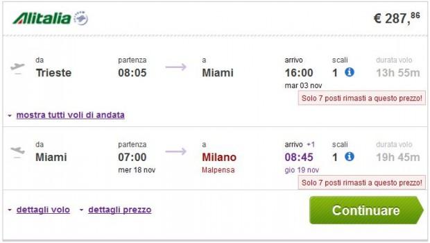 Trst >> Miami >> Milano