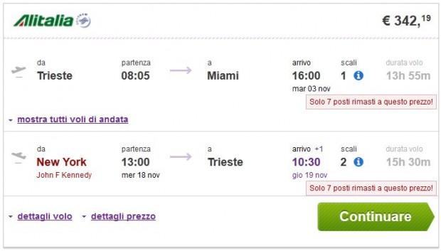 Trst >> Miami -- New York >> Trst