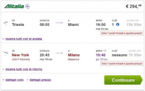 Trst >> Miami -- New York >> Milano
