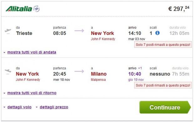Trst >> New York >> Milano