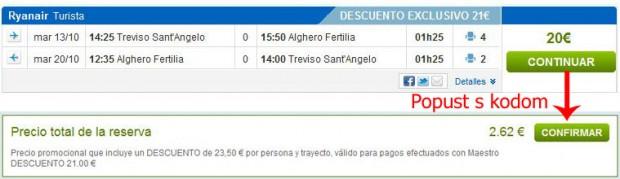 Venecija (Treviso) >> Alghero >> Venecija (Treviso)
