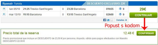 Venecija (Treviso) >> Barcelona >> Venecija (Treviso)