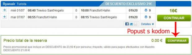 Venecija (Treviso) >> Frankfurt Hahn >> Venecija (Treviso)