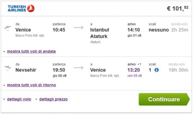 Venecija >> Istanbul -- Nevsehir >> Venecija