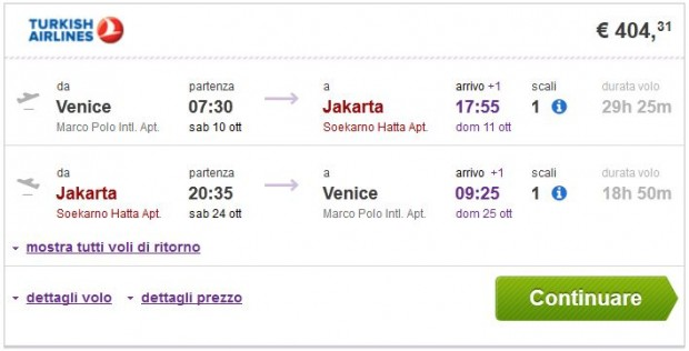 Venecija >> Jakarta >> Venecija