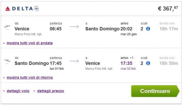 Venecija >> Santo Domingo >> Venecija