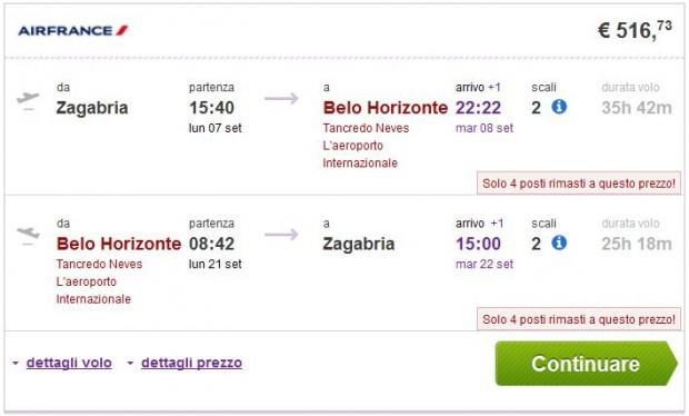 Zagreb >> Belo Horizonte >> Zagreb
