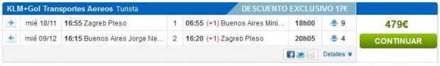 Zagreb >> Buenos Aires >> Zagreb, na Rumbo stranicama