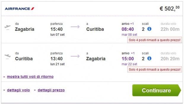 Zagreb >> Curitiba >> Zagreb