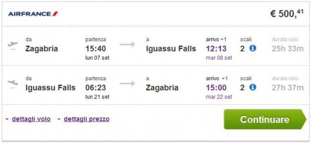 Zagreb >> Iguassu Falls >> Zagreb