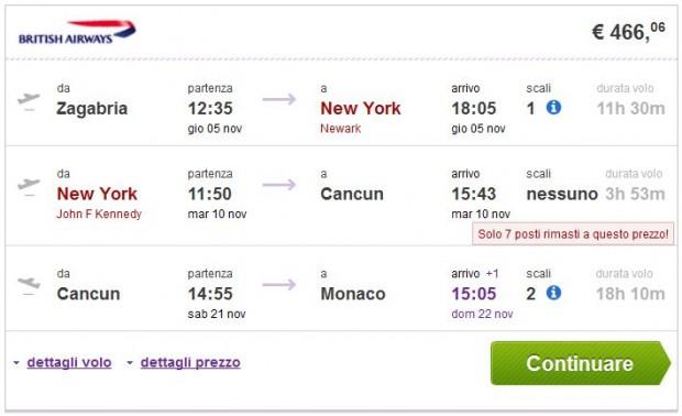 Zagreb >> New York >> Cancun >> Minhen